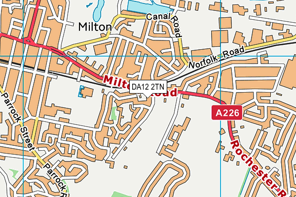 DA12 2TN map - OS VectorMap District (Ordnance Survey)