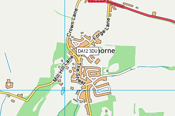 Shorne Church of England Primary School map (DA12 3DU) - OS VectorMap District (Ordnance Survey)