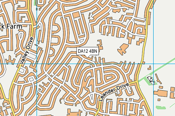 Tymberwood Academy map (DA12 4BN) - OS VectorMap District (Ordnance Survey)