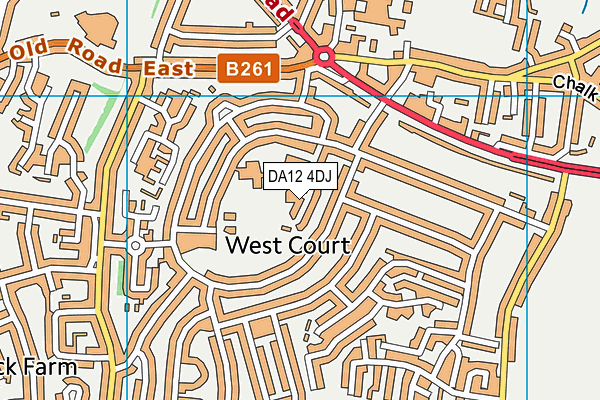 DA12 4DJ map - OS VectorMap District (Ordnance Survey)