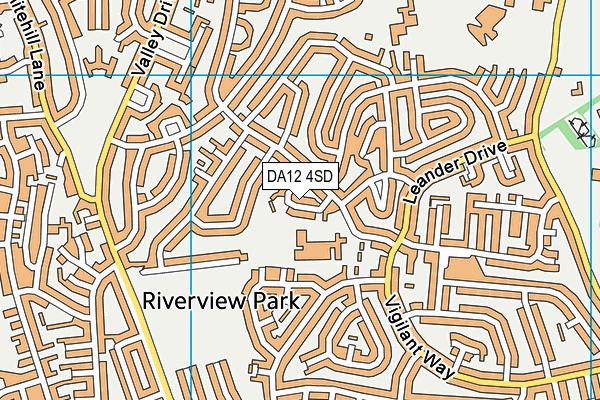 Riverview Junior School map (DA12 4SD) - OS VectorMap District (Ordnance Survey)