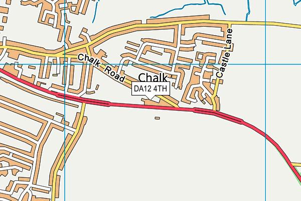 DA12 4TH map - OS VectorMap District (Ordnance Survey)