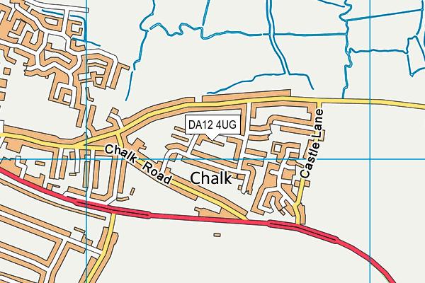 DA12 4UG map - OS VectorMap District (Ordnance Survey)