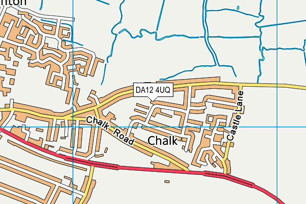 DA12 4UQ map - OS VectorMap District (Ordnance Survey)