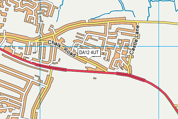 DA12 4UT map - OS VectorMap District (Ordnance Survey)