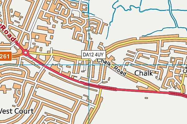 DA12 4UY map - OS VectorMap District (Ordnance Survey)