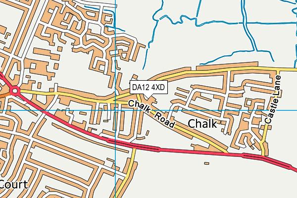 DA12 4XD map - OS VectorMap District (Ordnance Survey)