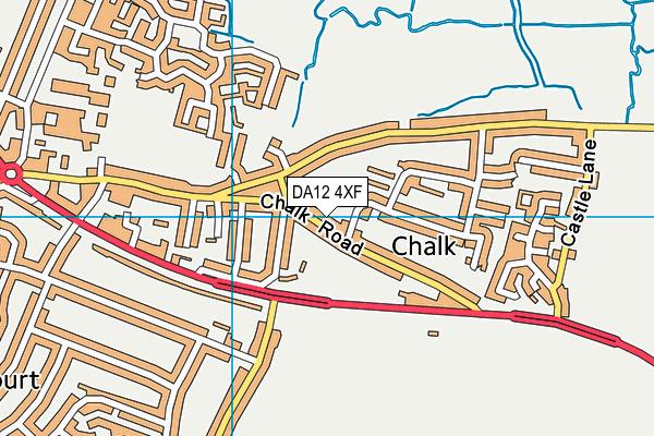 DA12 4XF map - OS VectorMap District (Ordnance Survey)