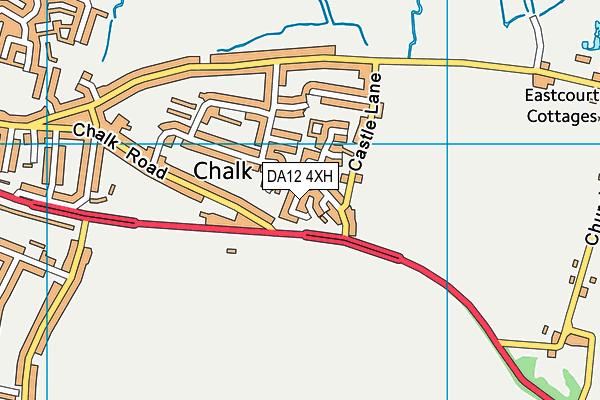 DA12 4XH map - OS VectorMap District (Ordnance Survey)