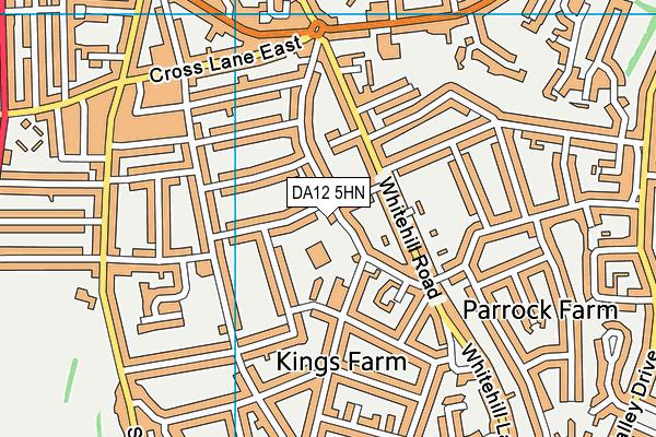 DA12 5HN map - OS VectorMap District (Ordnance Survey)