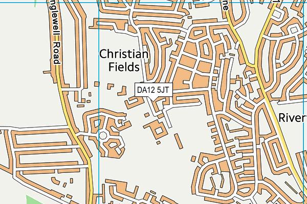 King's Farm Primary School map (DA12 5JT) - OS VectorMap District (Ordnance Survey)