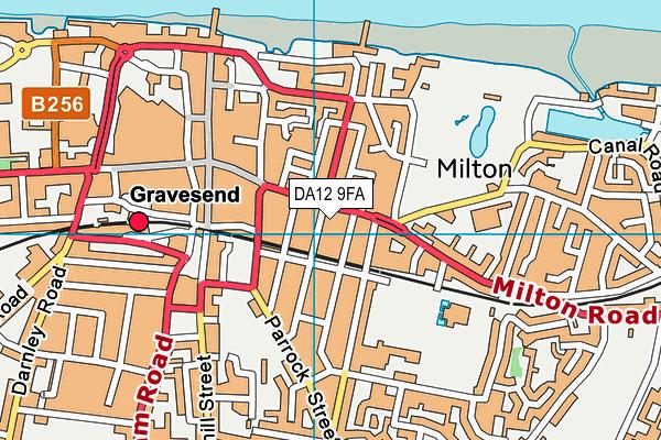DA12 9FA map - OS VectorMap District (Ordnance Survey)