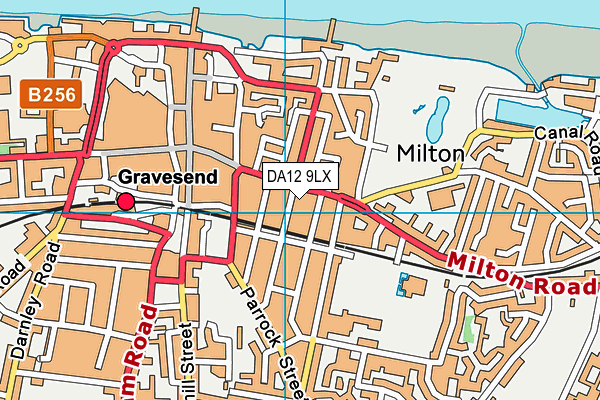 DA12 9LX map - OS VectorMap District (Ordnance Survey)
