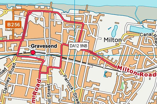 DA12 9NB map - OS VectorMap District (Ordnance Survey)