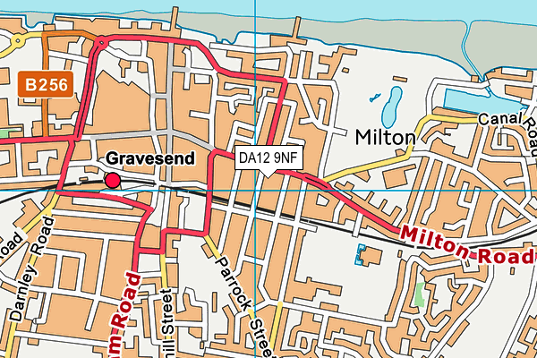 DA12 9NF map - OS VectorMap District (Ordnance Survey)