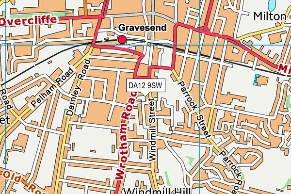DA12 9SW map - OS VectorMap District (Ordnance Survey)