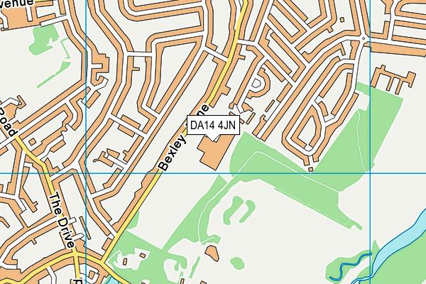 Cleeve Meadow School map (DA14 4JN) - OS VectorMap District (Ordnance Survey)