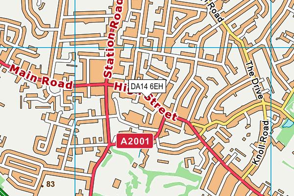 Better Gym Sidcup map (DA14 6EH) - OS VectorMap District (Ordnance Survey)