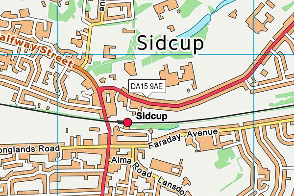 DA15 9AE map - OS VectorMap District (Ordnance Survey)