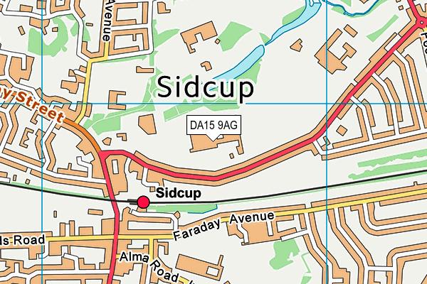 DA15 9AG map - OS VectorMap District (Ordnance Survey)