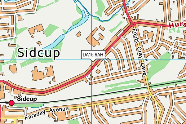 DA15 9AH map - OS VectorMap District (Ordnance Survey)