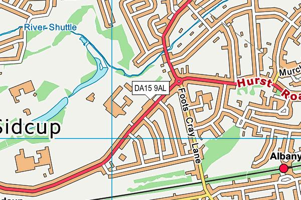 DA15 9AL map - OS VectorMap District (Ordnance Survey)