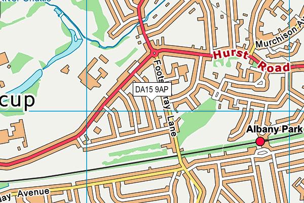 DA15 9AP map - OS VectorMap District (Ordnance Survey)