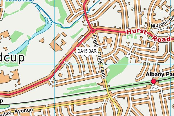 DA15 9AR map - OS VectorMap District (Ordnance Survey)