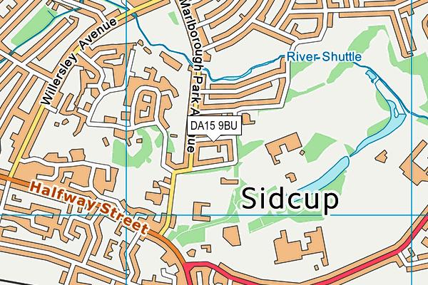 DA15 9BU map - OS VectorMap District (Ordnance Survey)