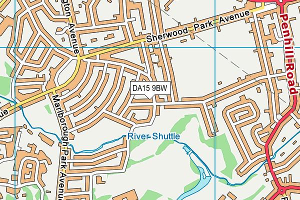 DA15 9BW map - OS VectorMap District (Ordnance Survey)