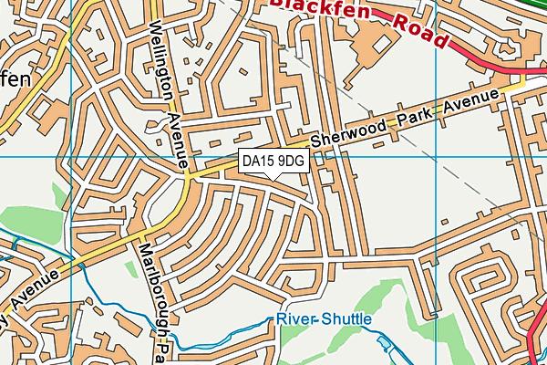DA15 9DG map - OS VectorMap District (Ordnance Survey)