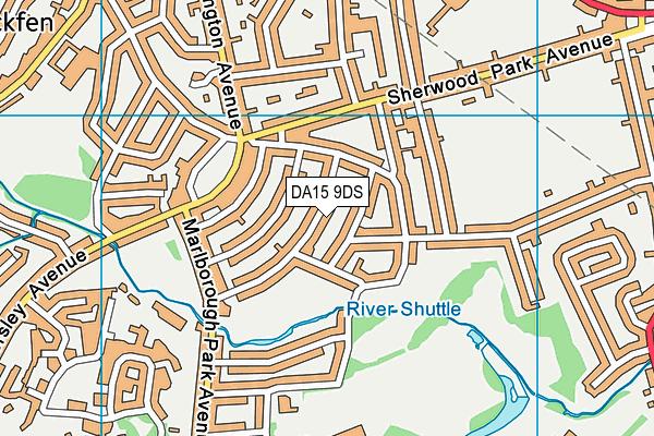 DA15 9DS map - OS VectorMap District (Ordnance Survey)