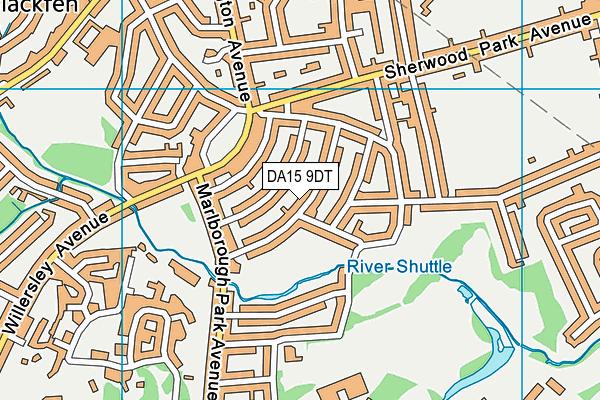 DA15 9DT map - OS VectorMap District (Ordnance Survey)