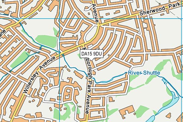 DA15 9DU map - OS VectorMap District (Ordnance Survey)