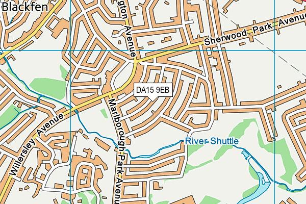 DA15 9EB map - OS VectorMap District (Ordnance Survey)
