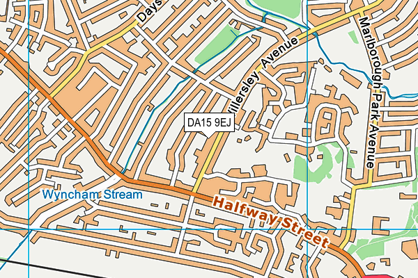 DA15 9EJ map - OS VectorMap District (Ordnance Survey)