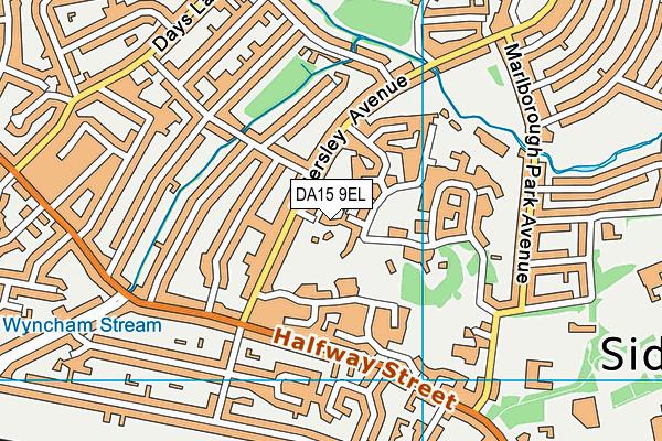 DA15 9EL map - OS VectorMap District (Ordnance Survey)