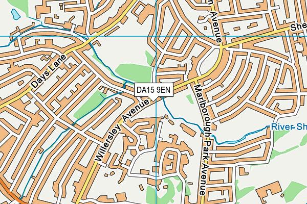 DA15 9EN map - OS VectorMap District (Ordnance Survey)