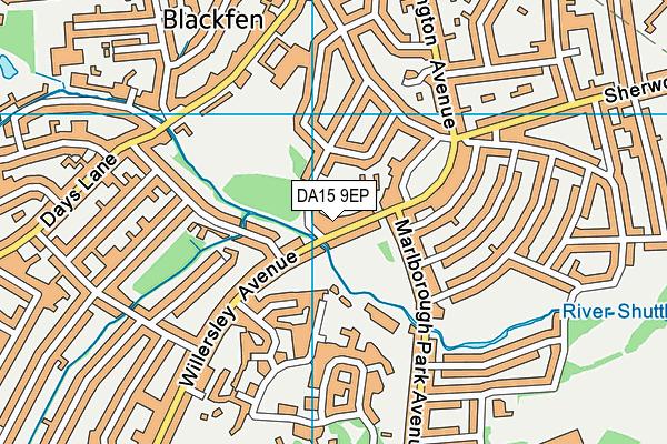DA15 9EP map - OS VectorMap District (Ordnance Survey)