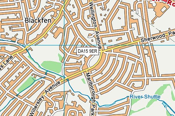 DA15 9ER map - OS VectorMap District (Ordnance Survey)
