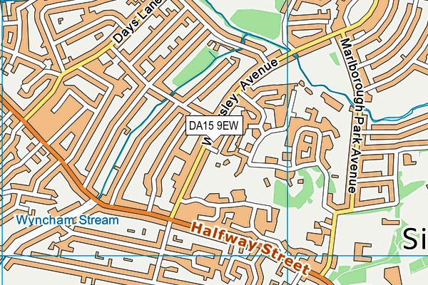 DA15 9EW map - OS VectorMap District (Ordnance Survey)