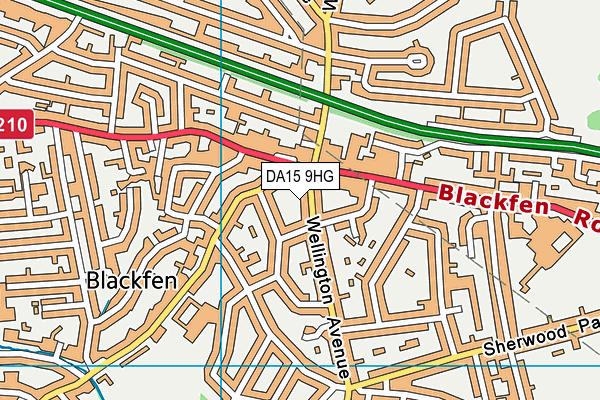 DA15 9HG map - OS VectorMap District (Ordnance Survey)