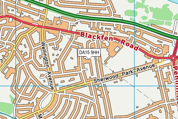 DA15 9HH map - OS VectorMap District (Ordnance Survey)