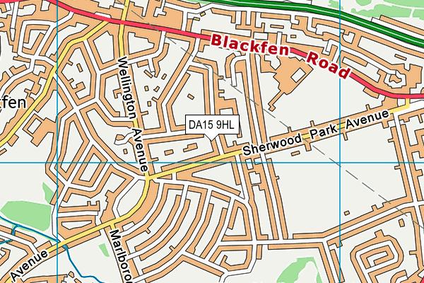DA15 9HL map - OS VectorMap District (Ordnance Survey)