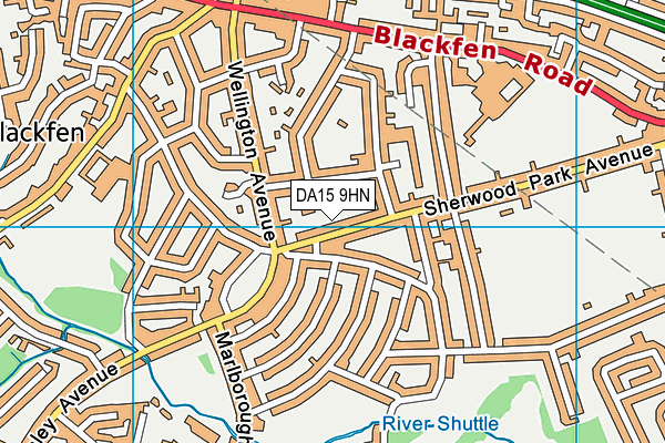 DA15 9HN map - OS VectorMap District (Ordnance Survey)