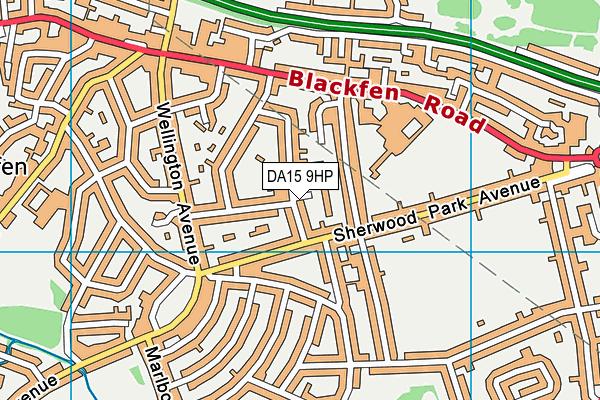 DA15 9HP map - OS VectorMap District (Ordnance Survey)