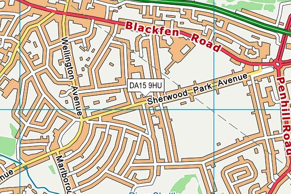 DA15 9HU map - OS VectorMap District (Ordnance Survey)