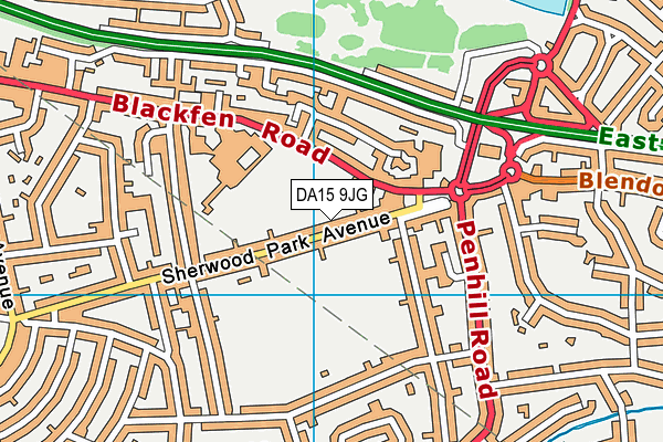 DA15 9JG map - OS VectorMap District (Ordnance Survey)