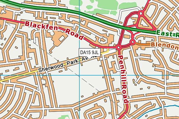 DA15 9JL map - OS VectorMap District (Ordnance Survey)