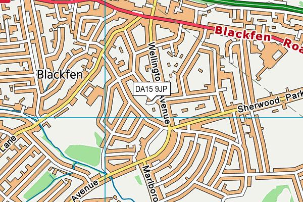 DA15 9JP map - OS VectorMap District (Ordnance Survey)